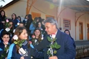 O vice-prefeito municipal, João Pedro Nunes, esteve entre os presenteados